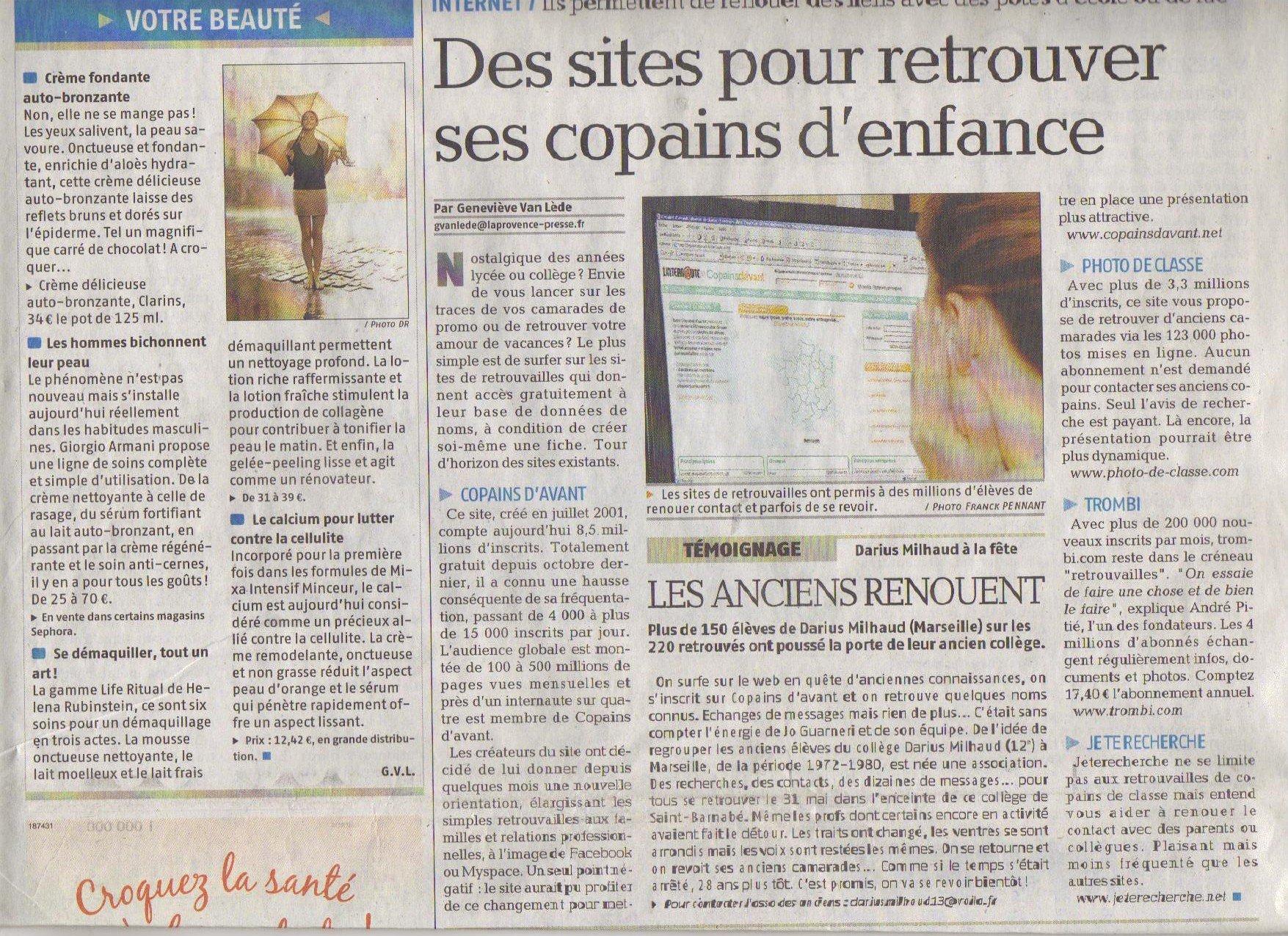 ARTICLE PROVENCE DU 23/06/2008